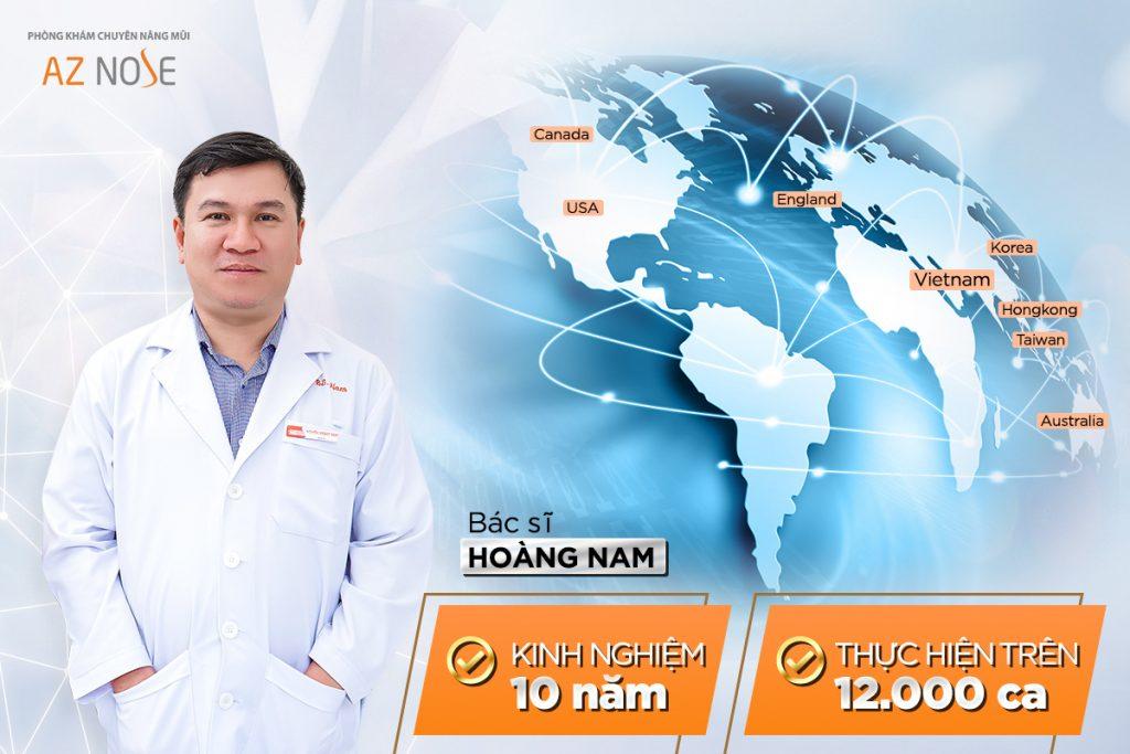 Bác sĩ Hoàng Nam - Giám đốc chuyên môn của Phòng khám chuyên sâu nâng mũi AZ NOSE.