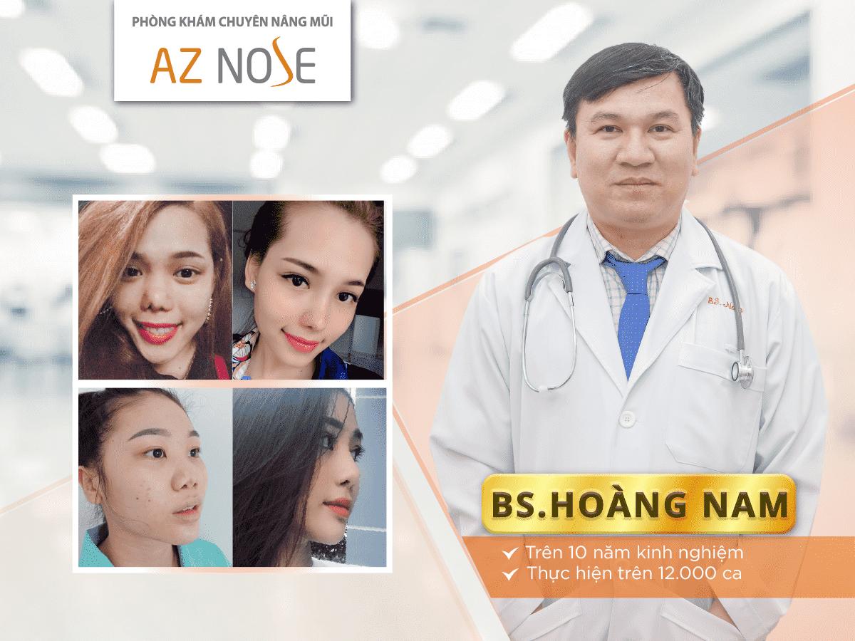 Bác sĩ Nguyễn Hoàng Nam - bác sĩ chuyên nâng mũi với kĩ thuật, chuyên môn cao