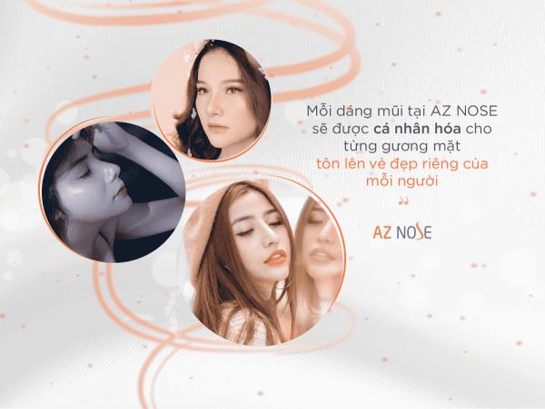 Mỗi dáng mũi tại AZ NOSE được điêu khắc riêng cho từng gương mặt