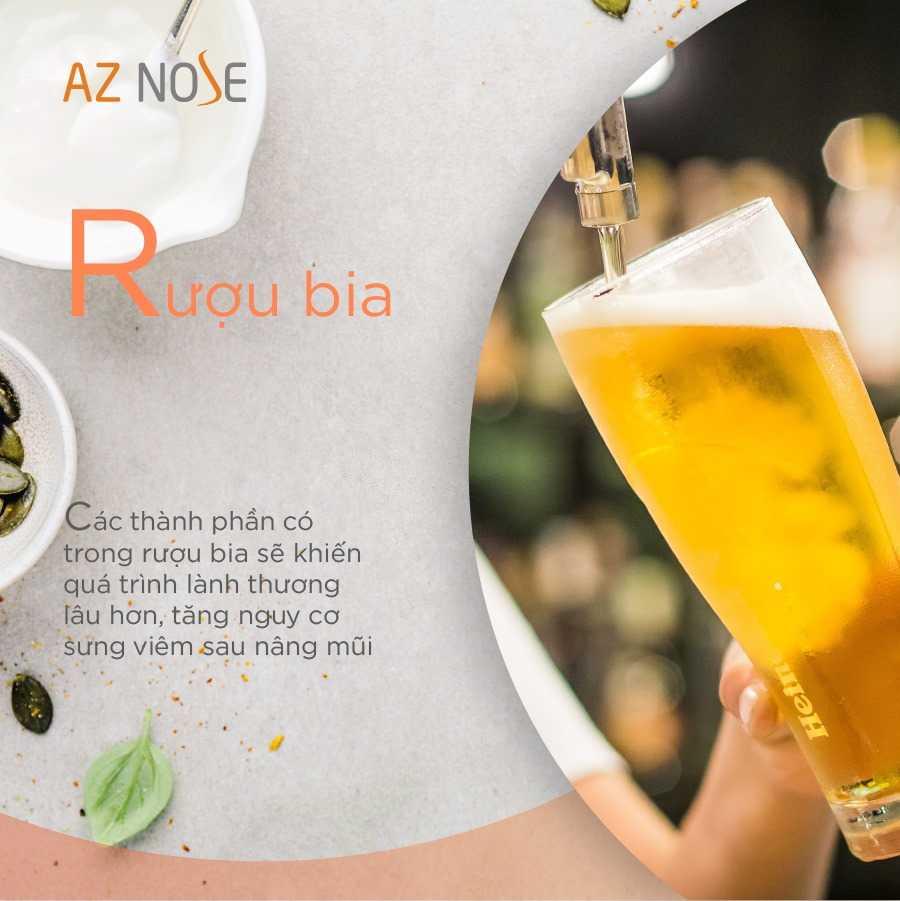 Đừng sử dụng rượu bia sau khi nâng mũi