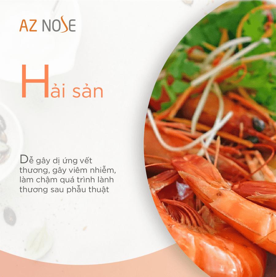 Không ăn ăn hải vì dễ gây viêm nhiễm