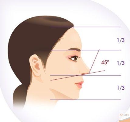 Nhận diện dáng mũi hếch nữ