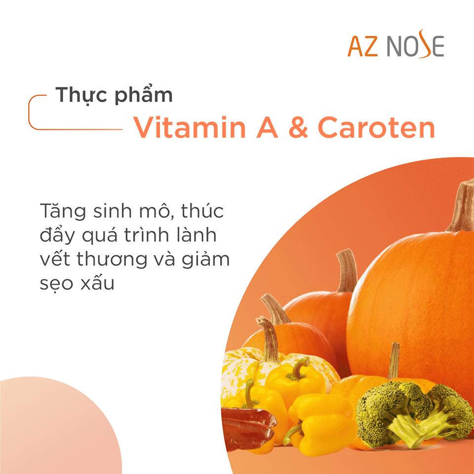 Ăn nhiều thực phẩm chưa Vitamin A & Caroten