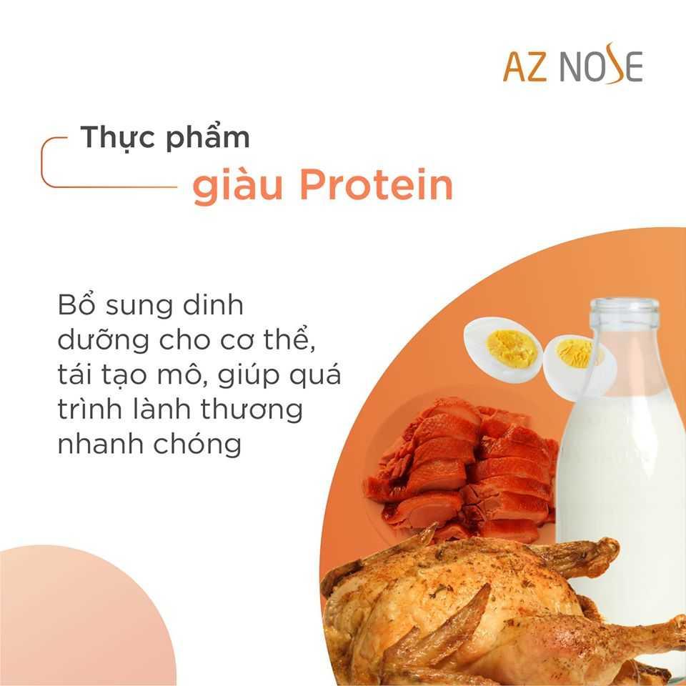 Ăn thực phẩm giàu Protein để bổ sung dinh dưỡng sau nâng mũi