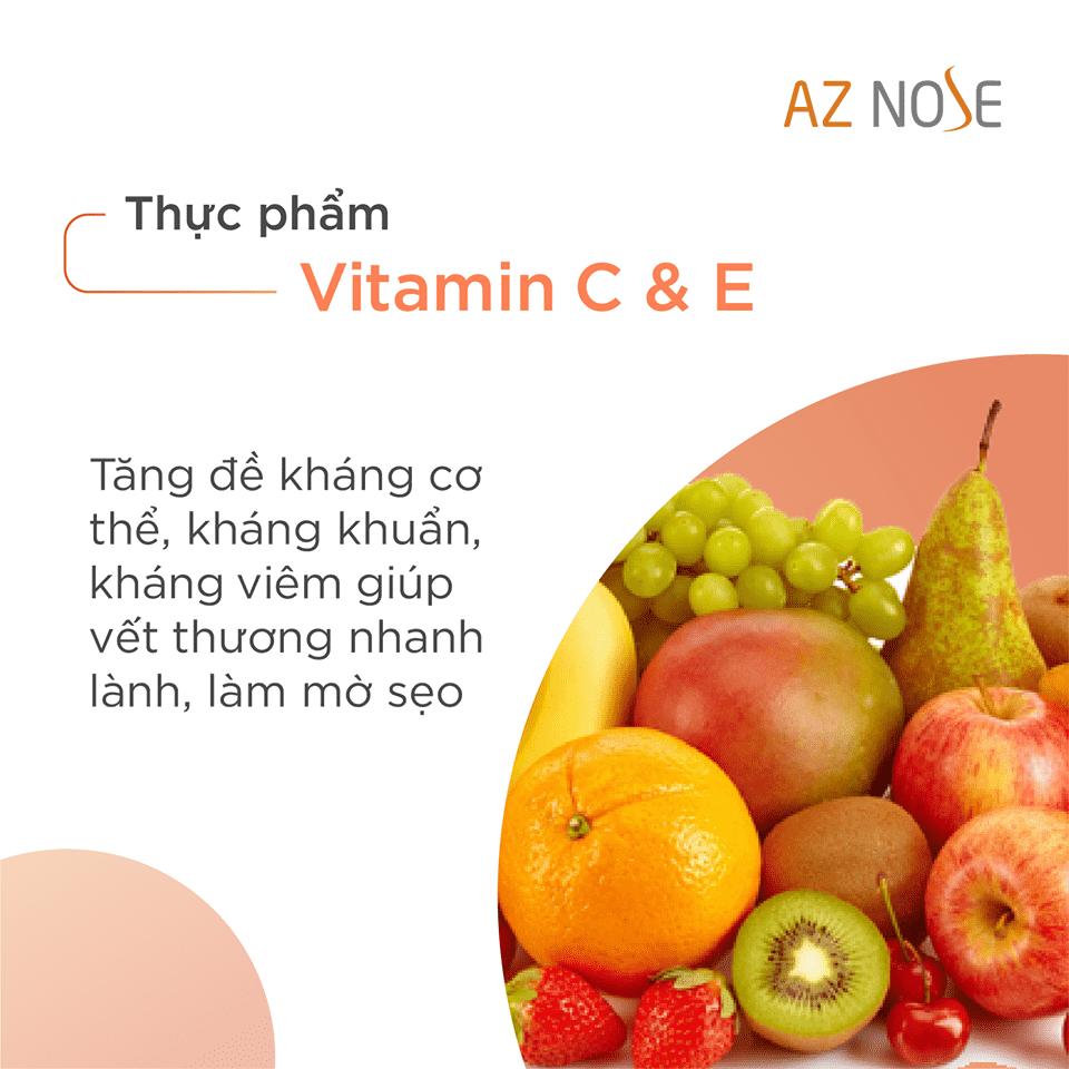 Ăn hoa quả có chưa Vitamin C & E giúp tăng đề kháng, kháng khuẩn