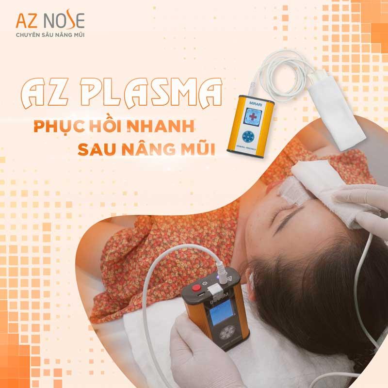 Công nghệ AZ PLASMA giúp giảm căng tức hiệu quả - một ưu điểm khác của phòng khám chuyên sâu nâng mũi AZ NOSE
