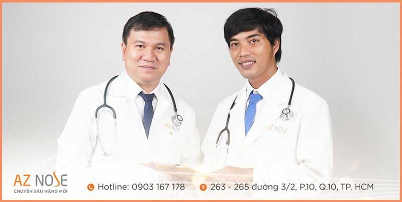 Đội ngũ bác sĩ chuyên môn nhiều năm kinh nghiệm tại phòng khám chuyên sâu nâng mũi AZ NOSE