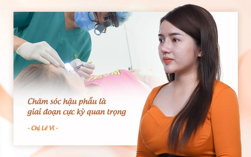 """""""Chăm sóc hậu phẫu tốt"""" là yếu tố quan trọng để đánh giá nơi sửa mũi uy tín."""
