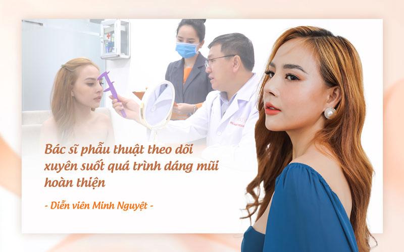 Bác sĩ theo dõi xuyên suốt giúp đảm bảo an toàn cho dáng mũi.