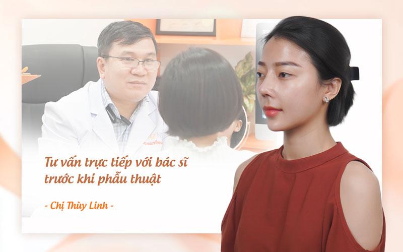Chị Linh tự tin và xinh đẹp hơn sau khi Tái tạo mũi hỏng tại AZ NOSE.